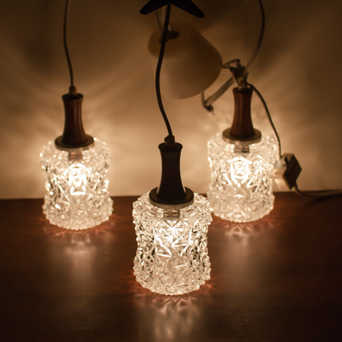 Denmark clear triple glass lamp wrosewood parts sold out mozeypictures Gallery